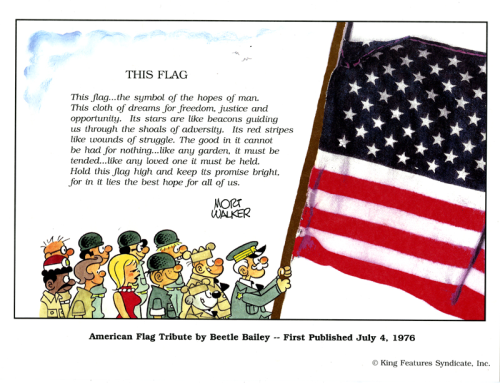 Beetle Bailey Flag Day print